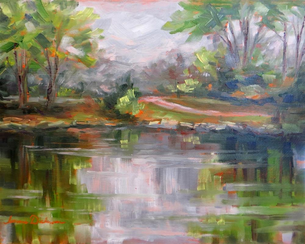 """""""Wine Country Lake"""" original fine art by Tammie Dickerson"""