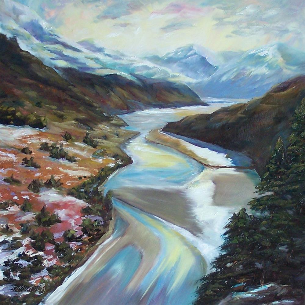 """River Valley"" original fine art by Donna Munsch"