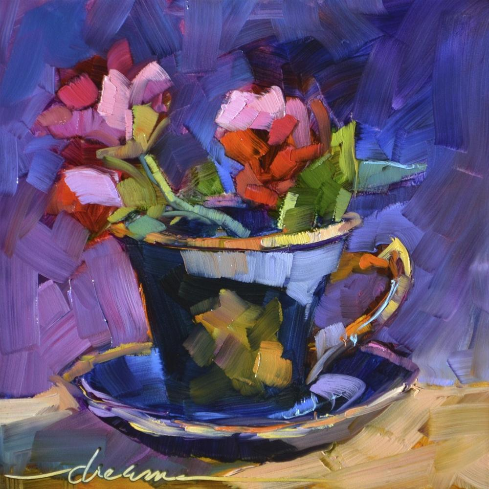 """""""A Cup of Goodness"""" original fine art by Dreama Tolle Perry"""