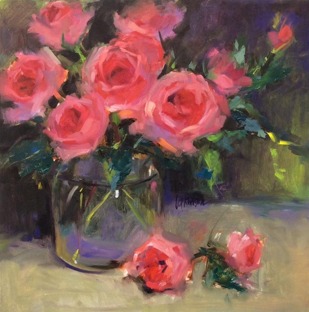 """Rose Obsession"" original fine art by Laurie Johnson Lepkowska"