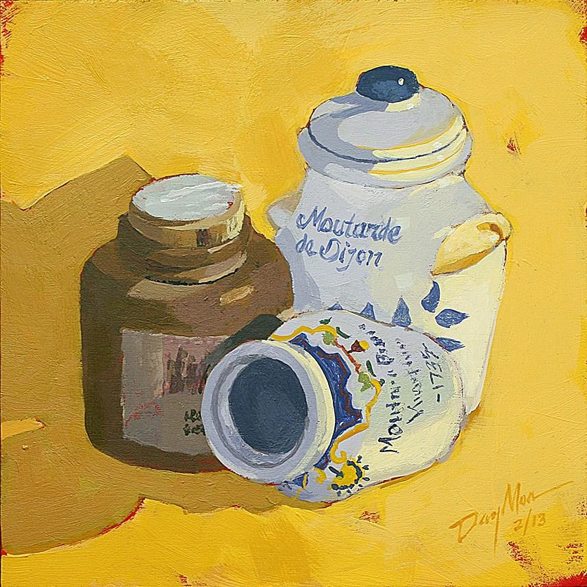 """Mustard"" original fine art by Mike Daymon"