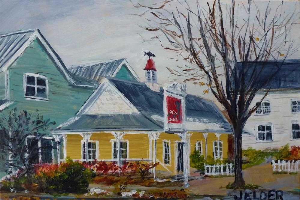 """Brown Bear Bakery"" original fine art by Judith Elder"