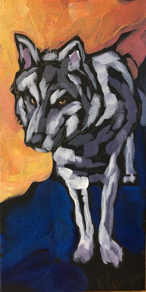 """""""Standing Wild"""" original fine art by Kat Corrigan"""