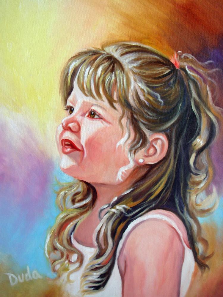 """Sweetie Pie"" original fine art by Susan Duda"