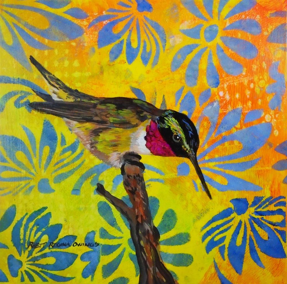 """Anna's Hummingbird"" original fine art by Rhett Regina Owings"