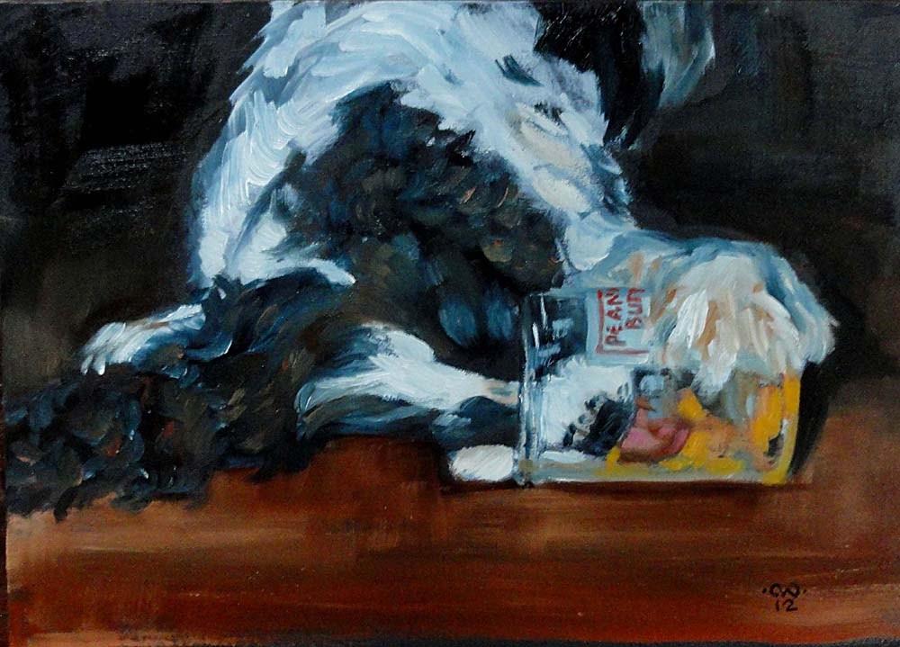 """Peanut Butter Thief"" original fine art by Cietha Wilson"