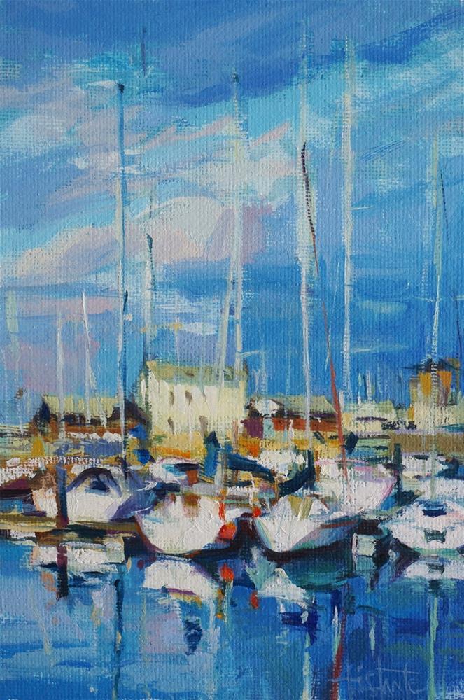 """Harbour sketch"" original fine art by Víctor Tristante"