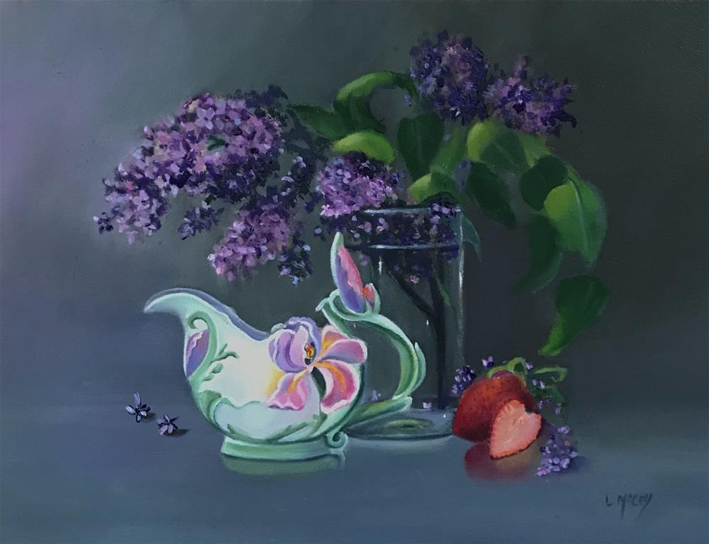 """Lilacs with Franz Creamer "" original fine art by Linda McCoy"