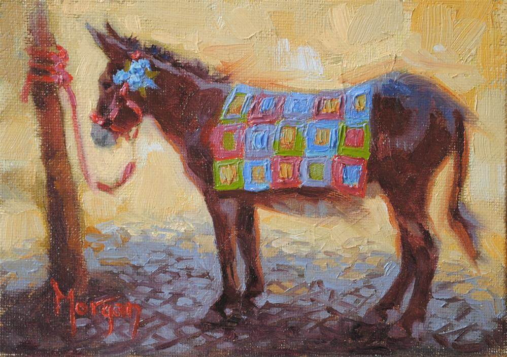 """""""All Dressed Up and Nowhere To Go"""" original fine art by Cecile W. Morgan"""