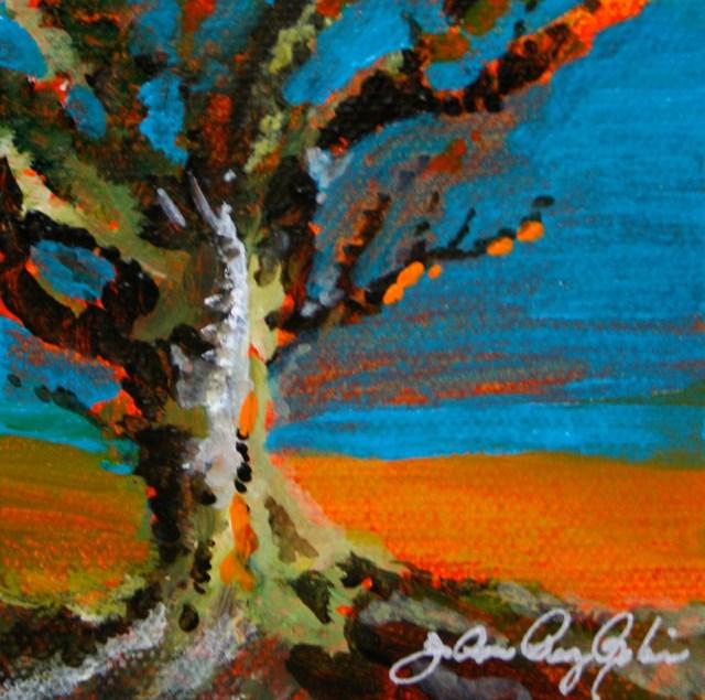"""Orange Tree"" original fine art by JoAnne Perez Robinson"