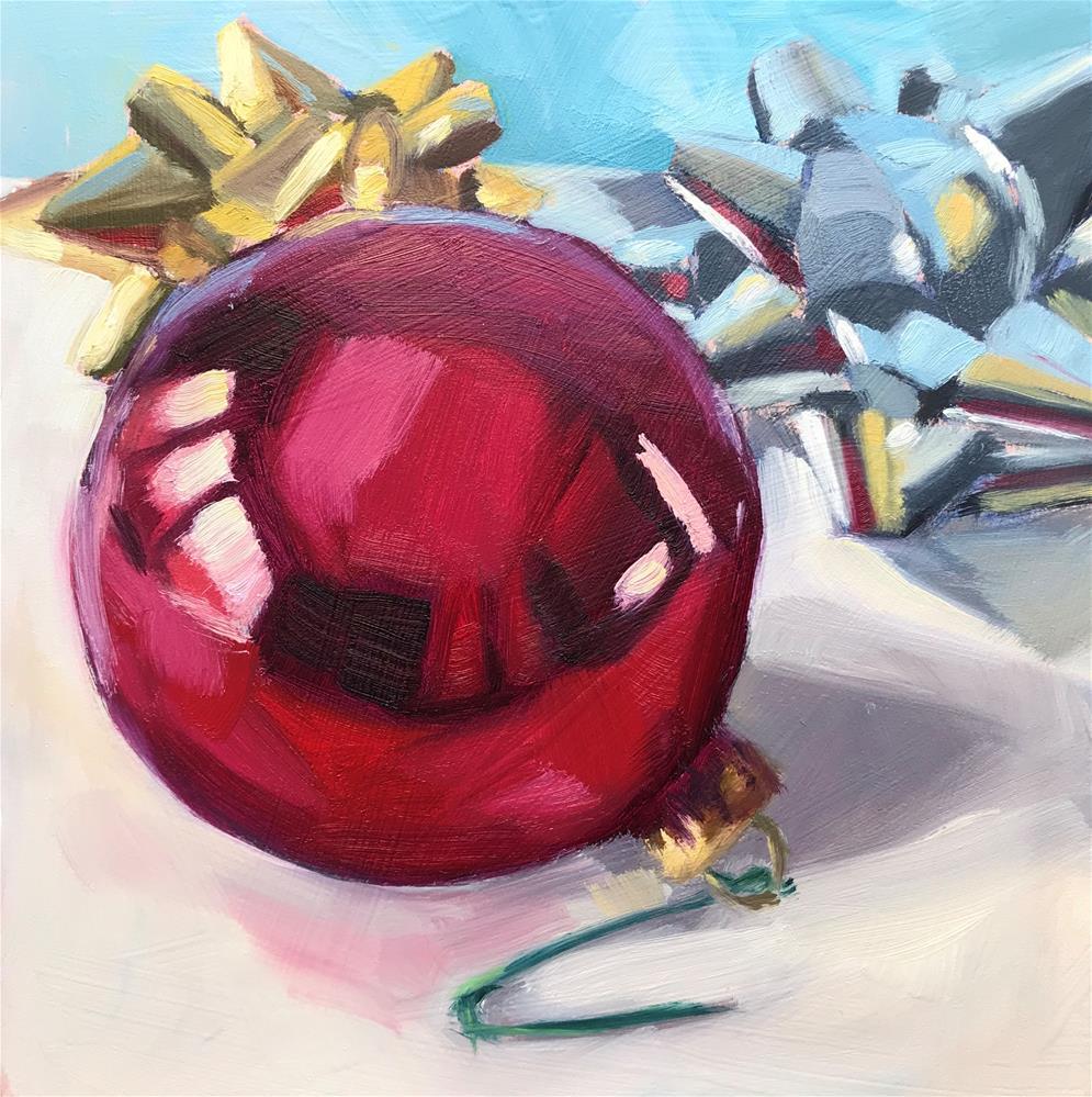 """""""Decorating Day"""" original fine art by Sharon Schock"""