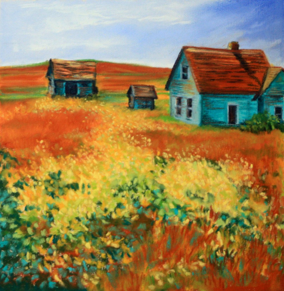 """""""Abandoned to the Goldenrod"""" original fine art by Jill Bates"""