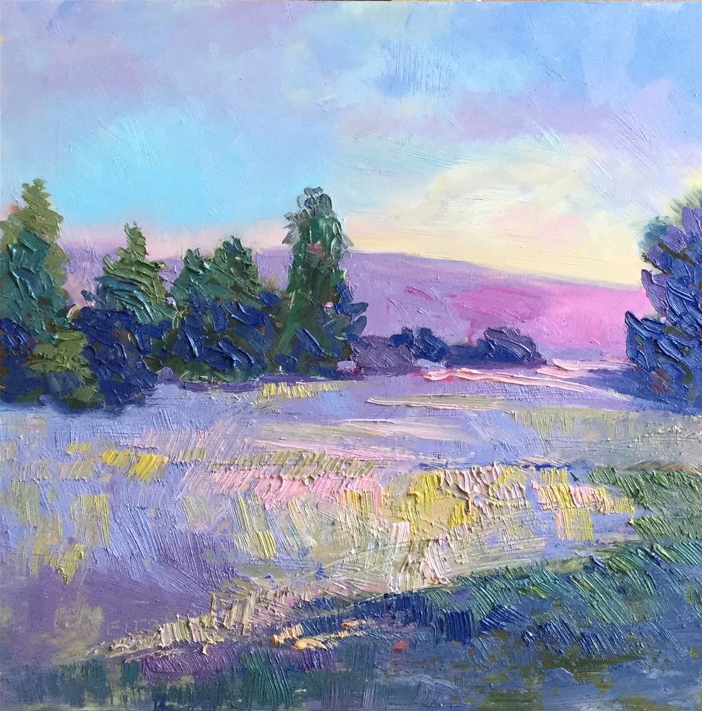 """Impasto Landscape Study 39"" original fine art by Charlotte Fitzgerald"
