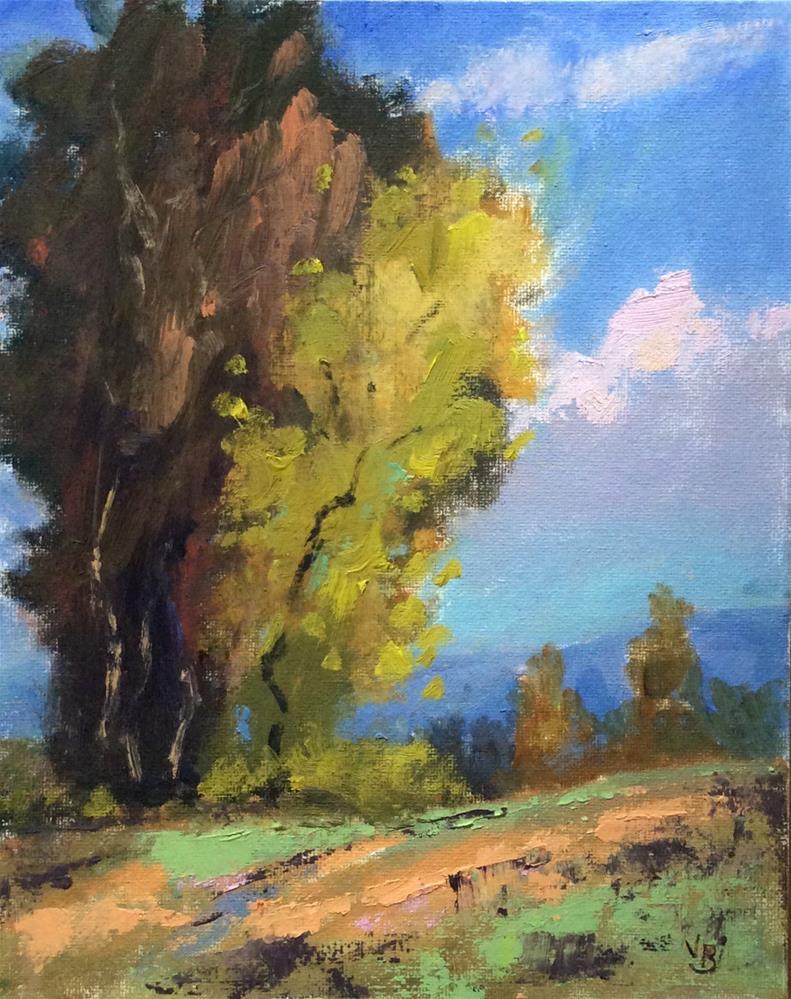 """Tall Fall Trees"" original fine art by Victoria  Biedron"