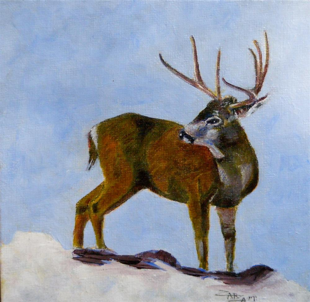 """Mule Deer Buck"" original fine art by Paul Zarza"