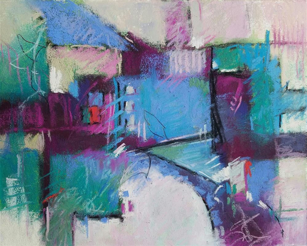 """""""Spillway"""" original fine art by Cindy Haase"""