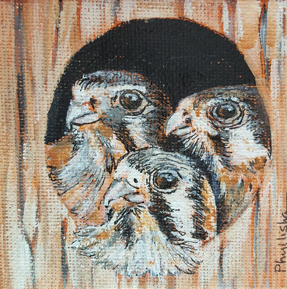 """Three Amigos"" original fine art by Phyllisha Hamrick"