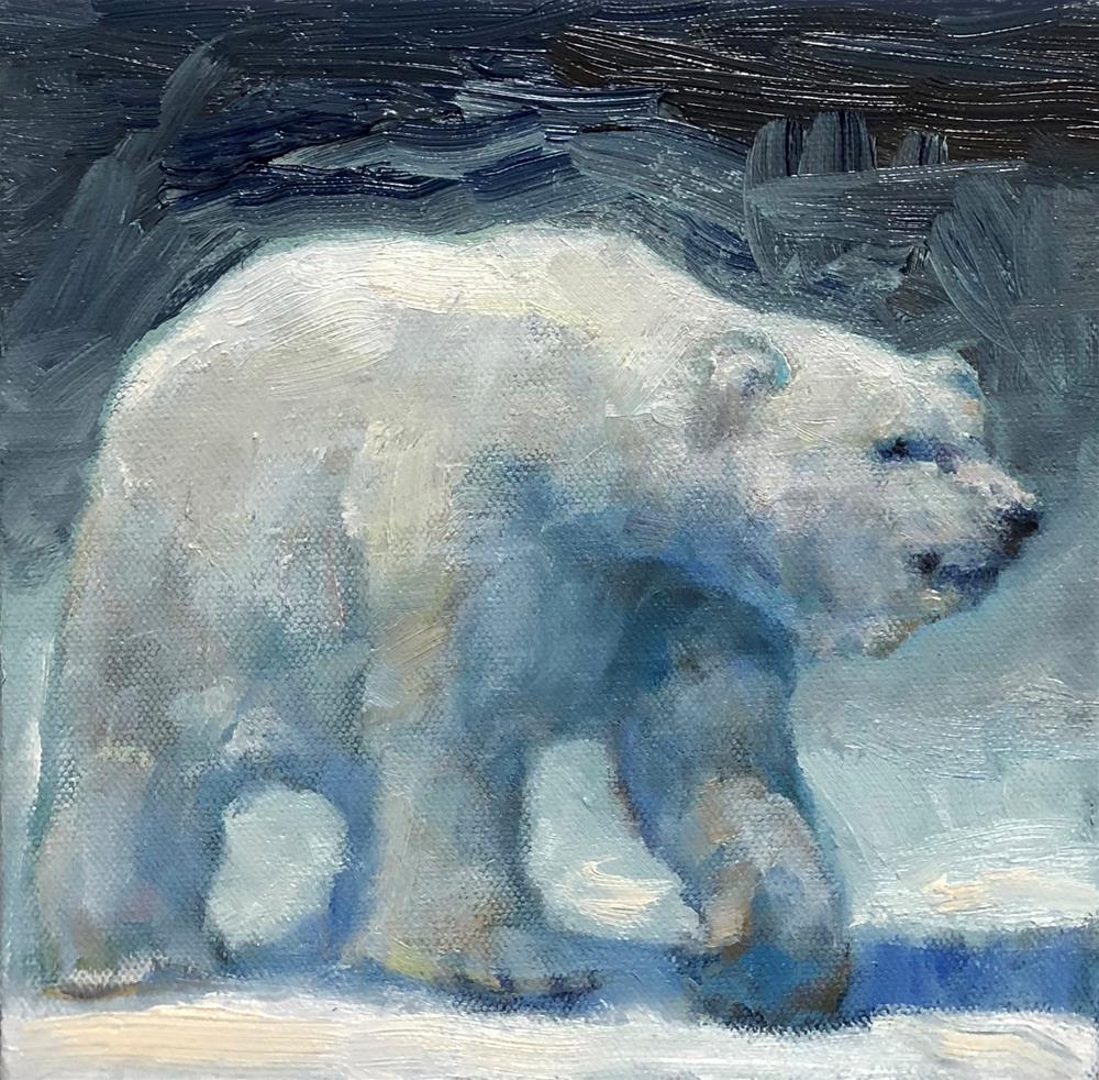 """Polar Bear"" original fine art by Rachel K Schlueter"