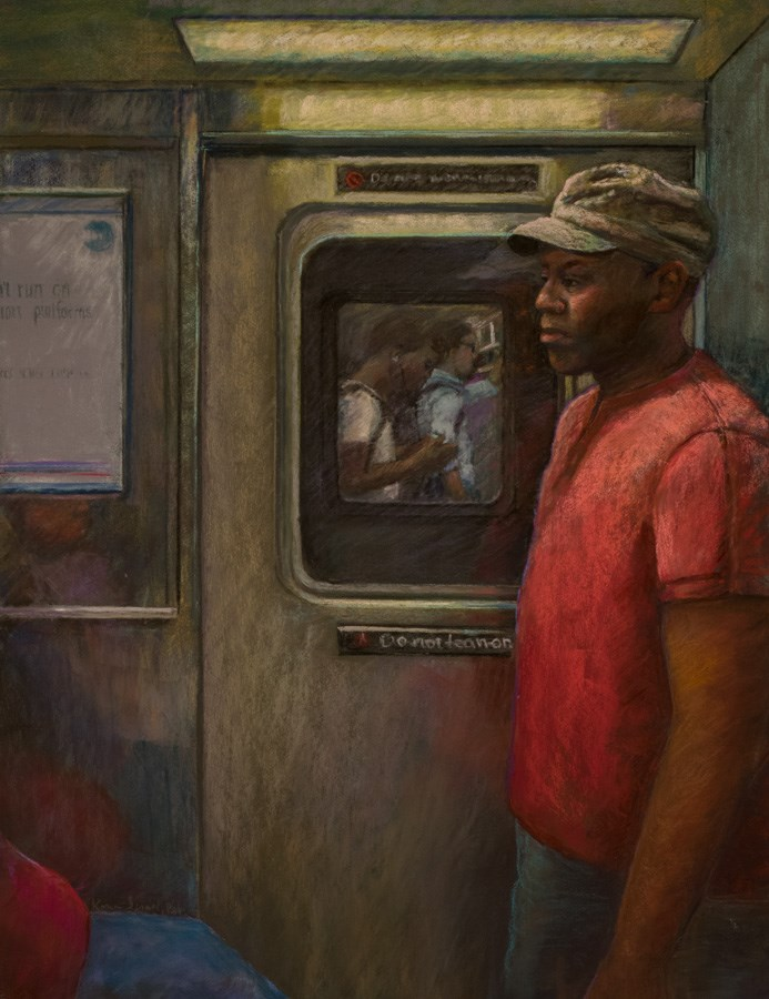 """""""Another Passenger"""" original fine art by karen israel"""