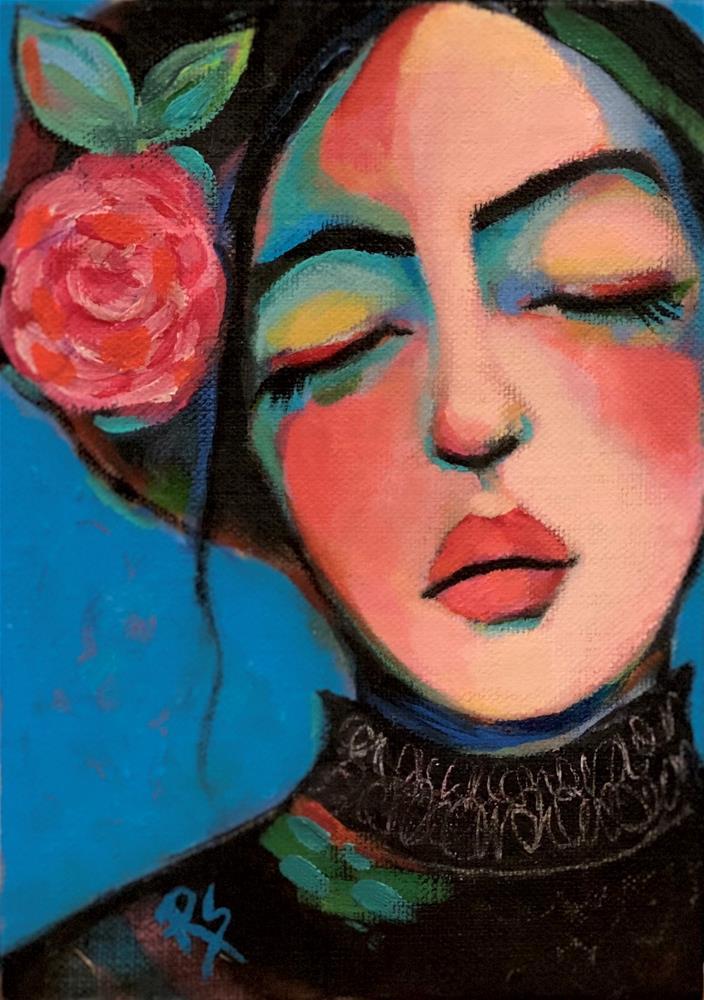 """Tender Love and Dreams"" original fine art by Artcylucy Art by Roberta Schmidt"