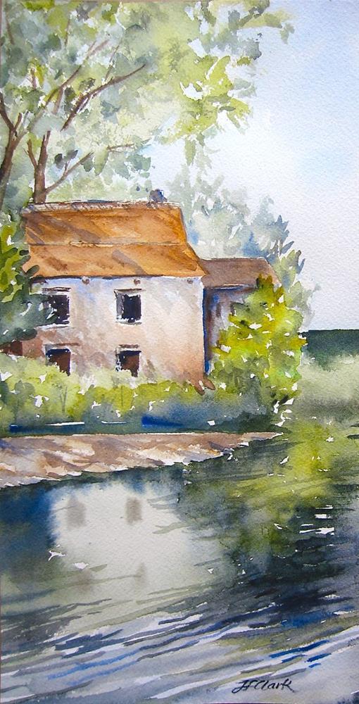 """Canal in the Netherlands"" original fine art by Judith Freeman Clark"