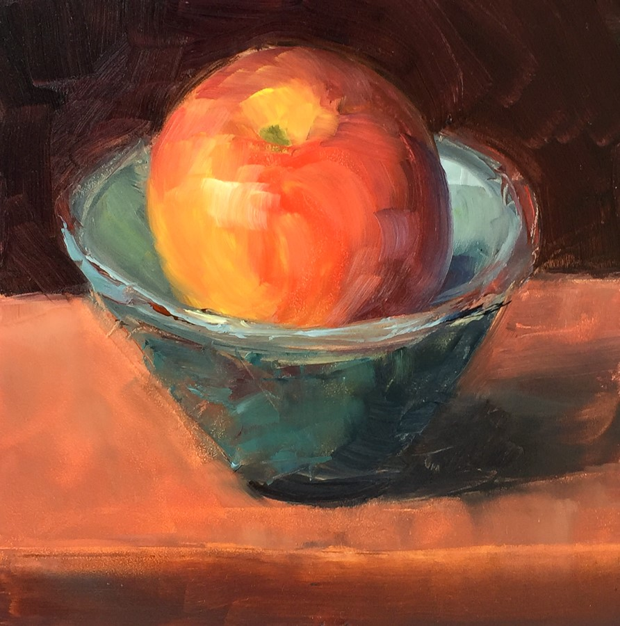 """#97 - Big Apple - Small Bowl"" original fine art by Sara Gray"
