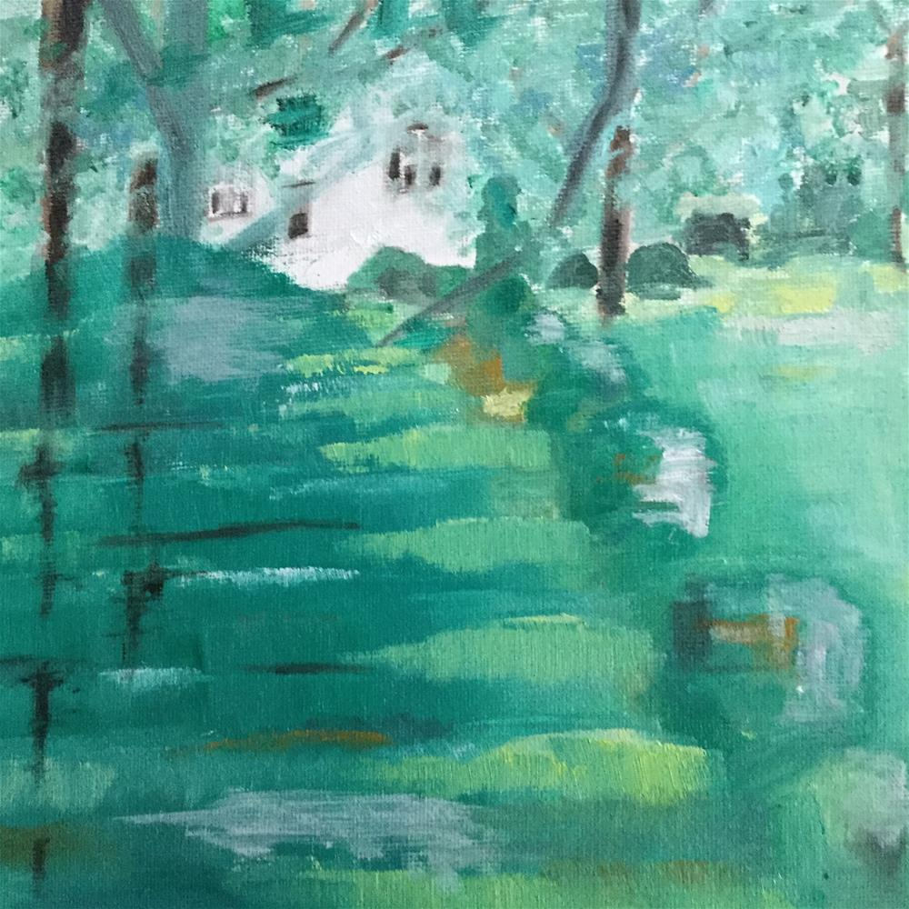 """Topiary House"" original fine art by pamela kish"