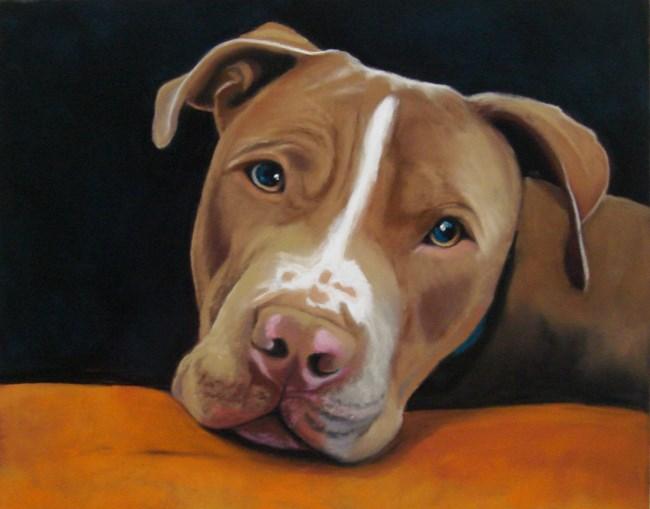 """""""Digby"""" original fine art by Ria Hills"""