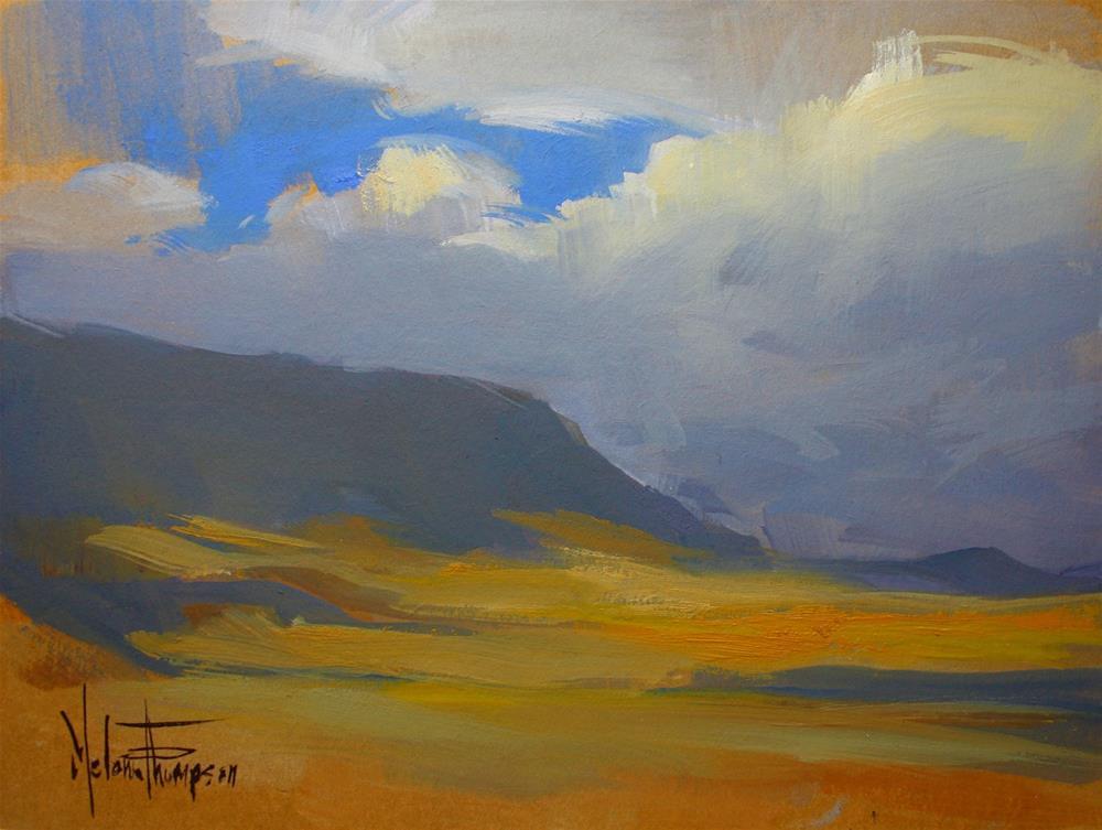 """Clouds Over Rattlesnake"" original fine art by Melanie Thompson"
