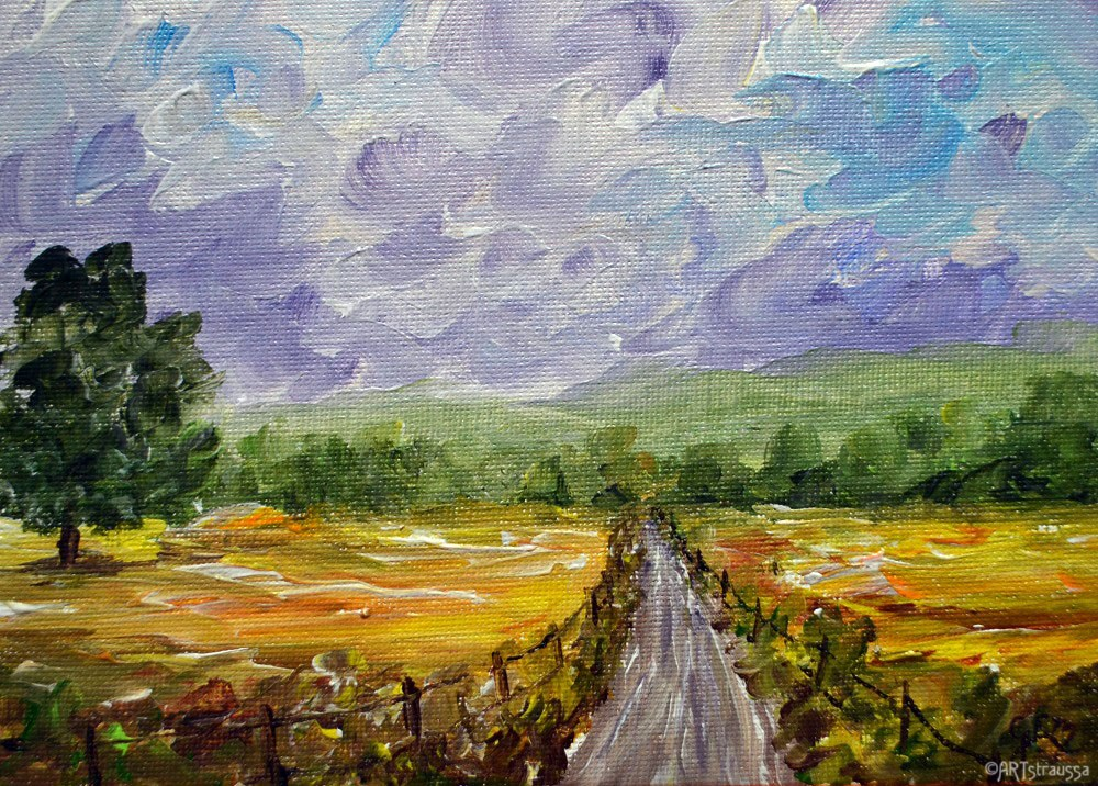"""SALE!!! Cheddar Road"" original fine art by Gloria Ester"