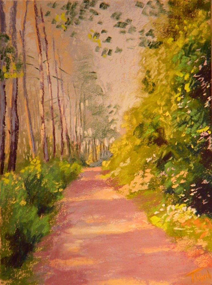 """Quiet path"" original fine art by Toby Reid"