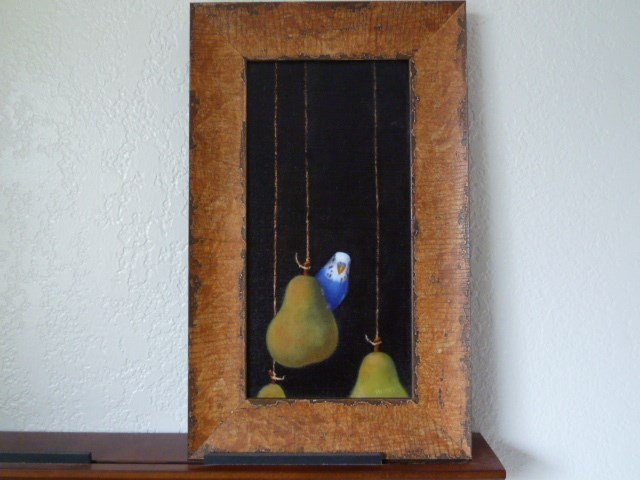 """pearakeet"" original fine art by Susanne Billings"