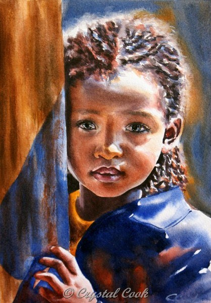 """Solemn 2"" original fine art by Crystal Cook"