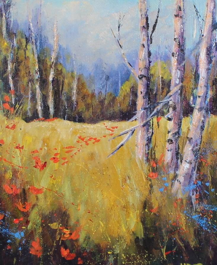 """Original landscape aspen Colorado acrylic painting"" original fine art by Alice Harpel"