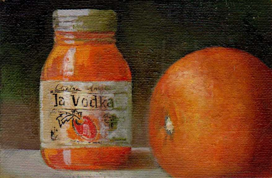 """La Vodka"" original fine art by Mark DeBak"