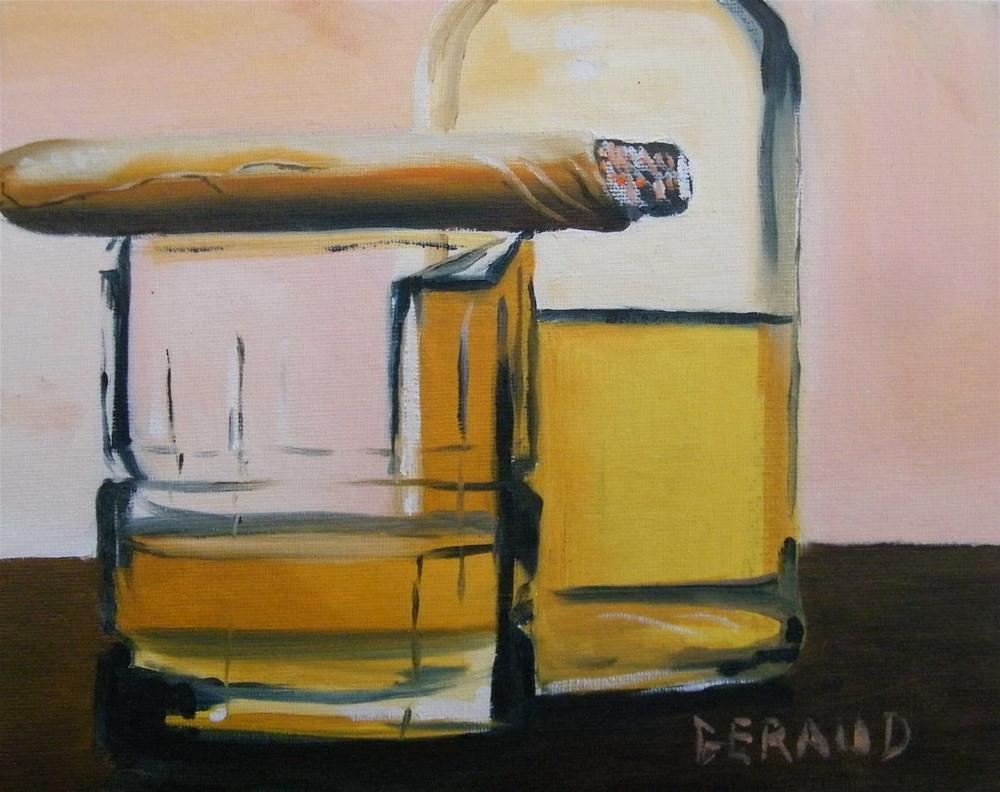 """Nightcap"" original fine art by Geraud Staton"