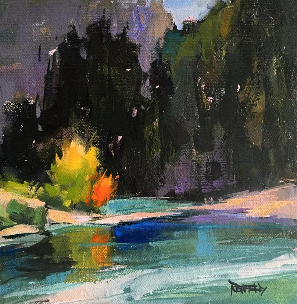"""Mysterious River"" original fine art by Cathleen Rehfeld"