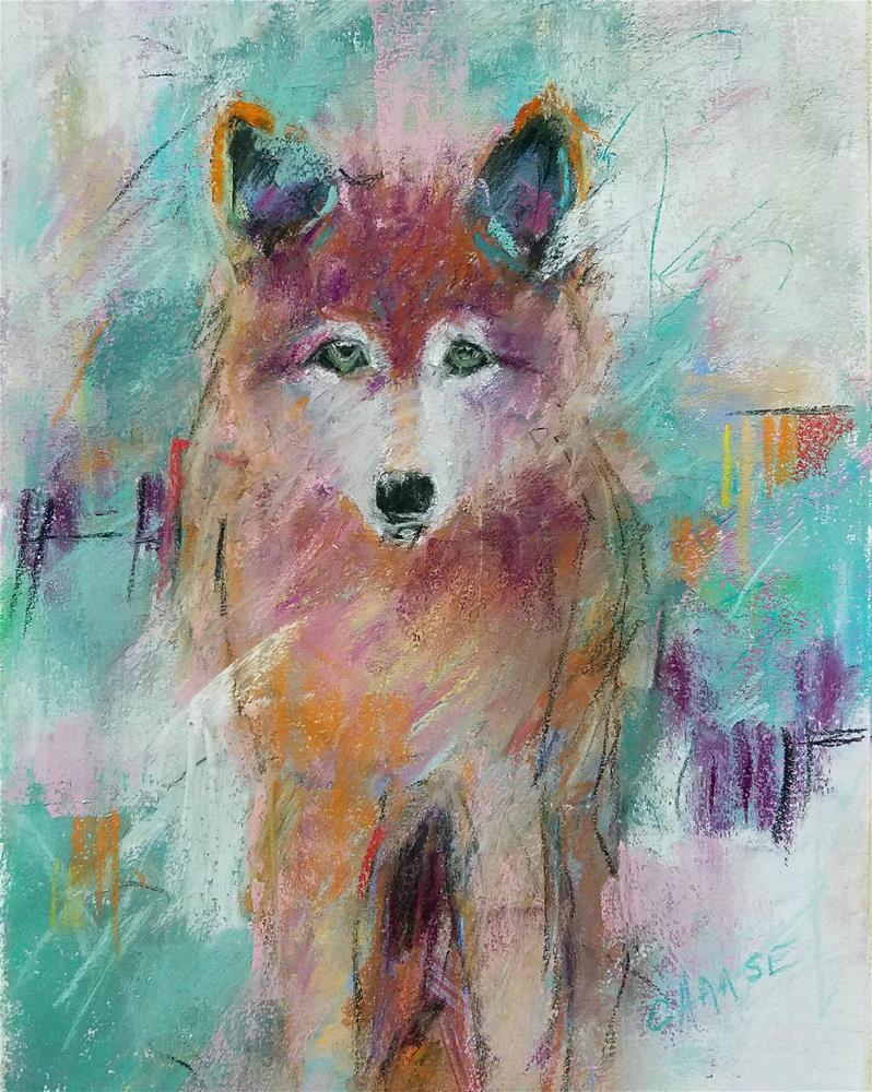 """Crazy Wolf II"" original fine art by Cindy Haase"