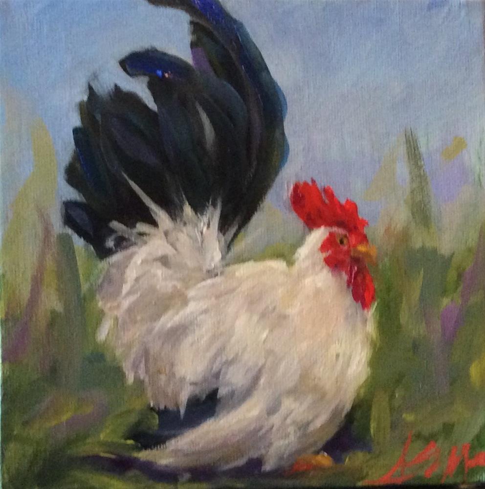 """""""Barnyard Beauty"""" original fine art by Susie Monzingo"""
