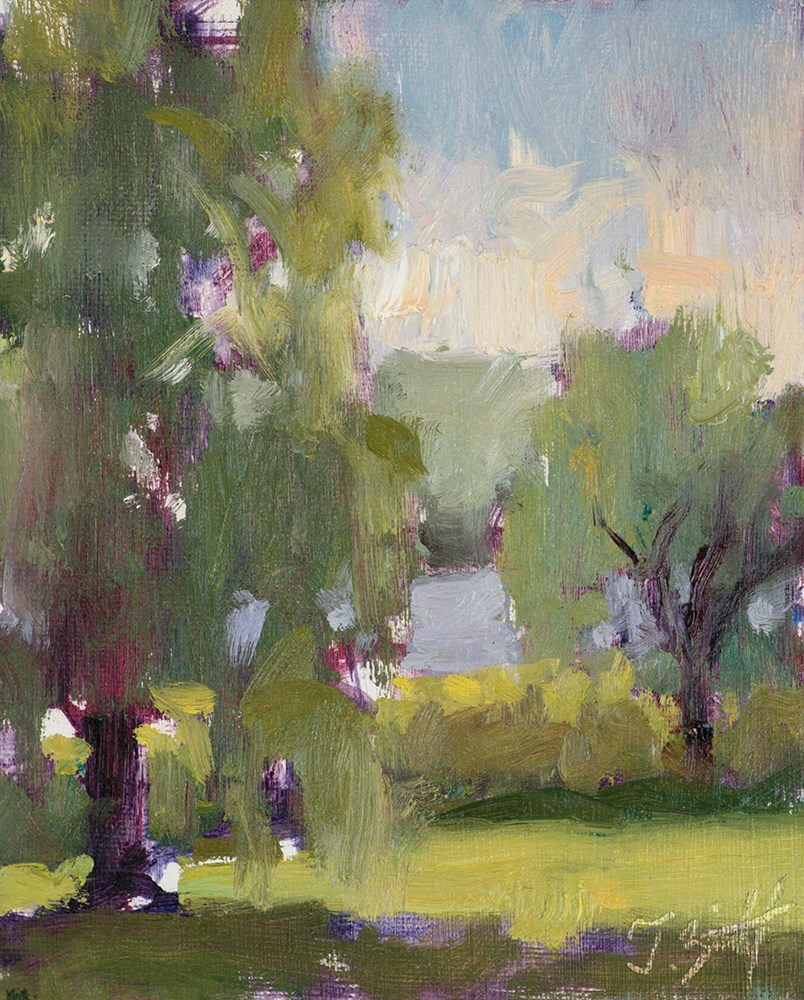 """""""Two Willows and a Pond (study 1)"""" original fine art by Todd Zuithof"""