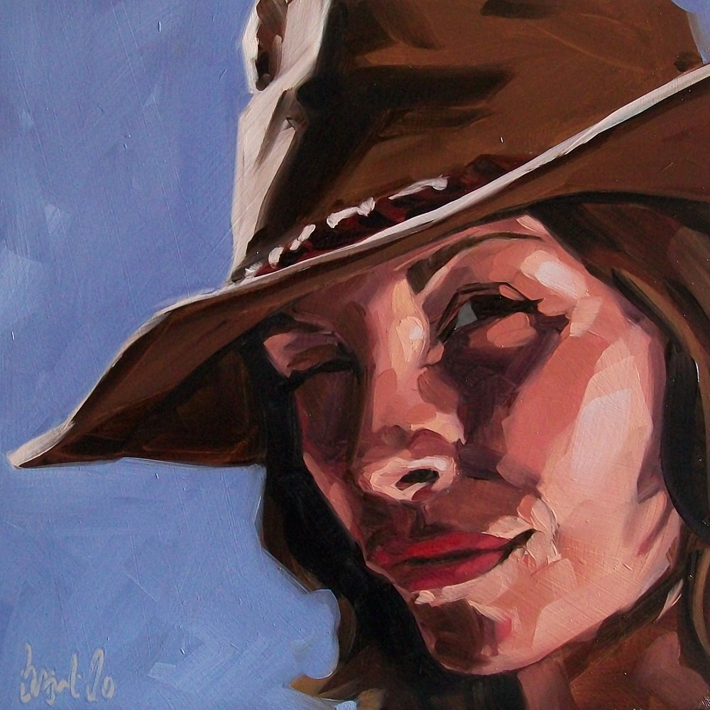 """Wrangler"" original fine art by Brandi Bowman"