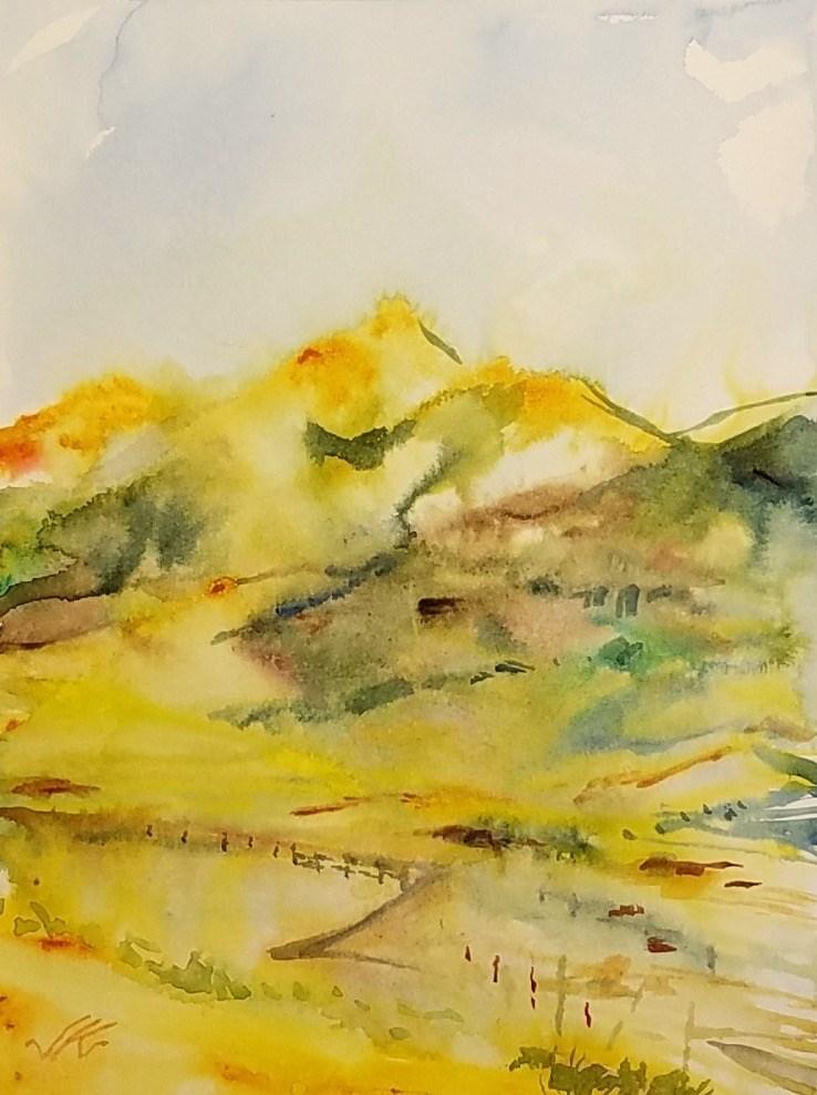 """""""Horn Peak, Westcliffe, CO"""" original fine art by Jean Krueger"""