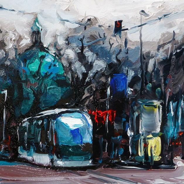 """town center"" original fine art by Jurij Frey"