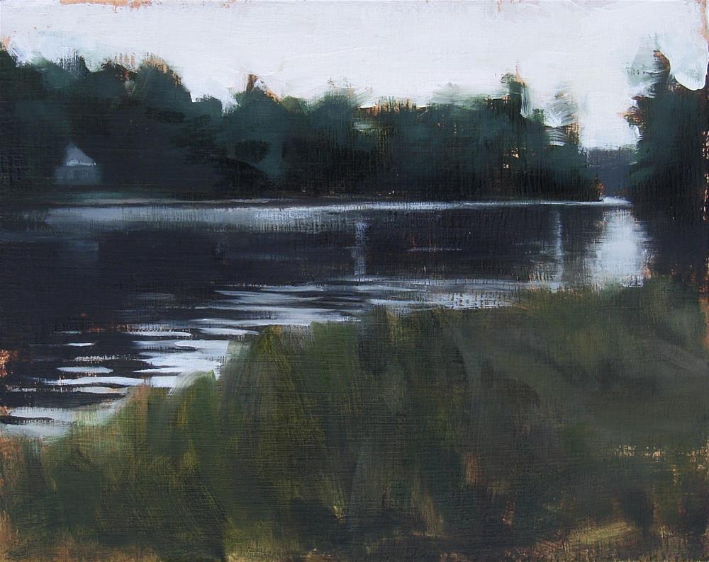 """Commission no.3 (View Onto the Lake / Lake Monomonoc, NH)"" original fine art by Michael William"