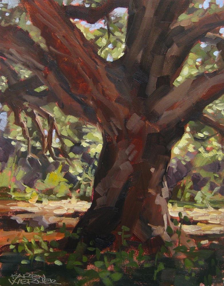 """Majestic Oak"" original fine art by Karen Werner"