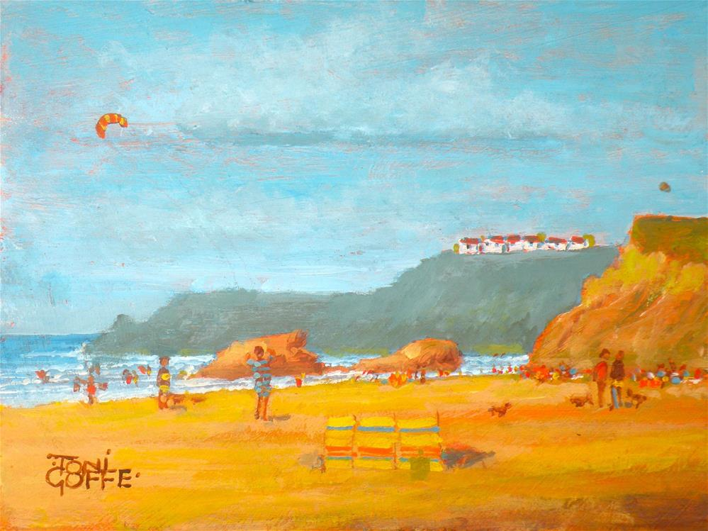 """Widemouth Beach"" original fine art by Toni Goffe"