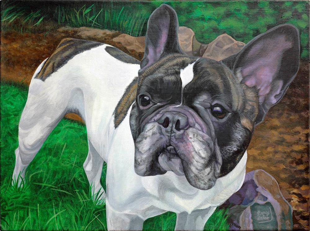 """Big Lou"" original fine art by Nancy Daleo"