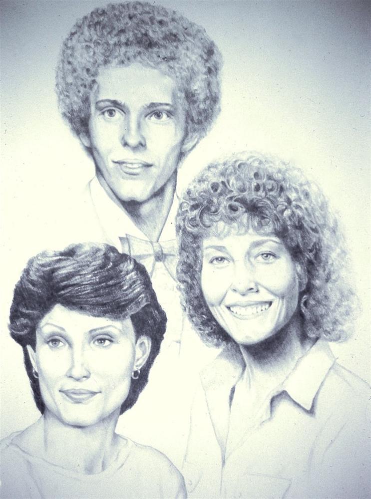 """Three Portraits, 16x20 Graphite Drawing"" original fine art by Carmen Beecher"