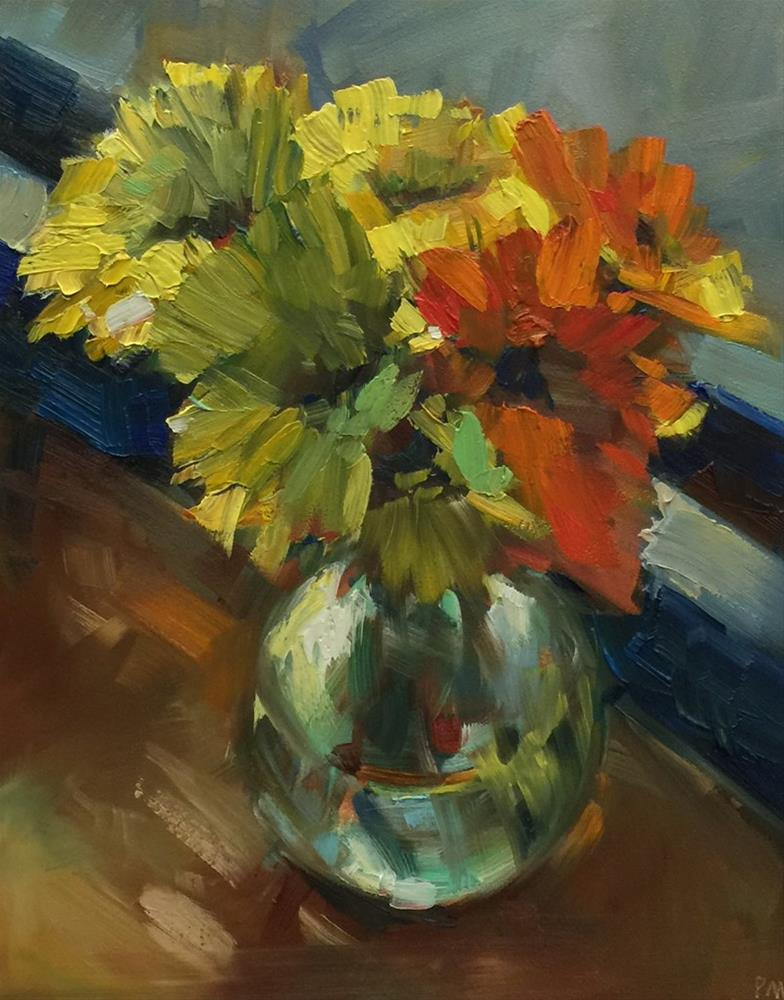 """""""Splashes of Color on a Grey Day"""" original fine art by Patti McNutt"""