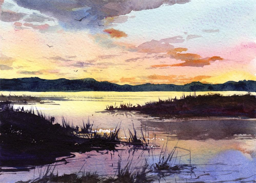 """""""A New Day's Dawning"""" original fine art by Linda Henry"""